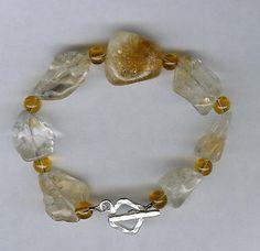 Bracelet  Citrine Sterling Silver by ChicStatements on Etsy, $30.00