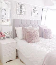 44 exquisitely admirable modern french bedroom ideas to steal 30 Bedroom Apartment, Home Bedroom, Girls Bedroom, Bedroom Furniture, Trendy Bedroom, Neutral Bedrooms, Modern Bedroom, Furniture Design, Lilac Bedroom