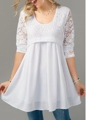 Stylish Tops For Girls, Trendy Tops, Trendy Fashion Tops, Trendy Tops For Women Page 8 Stylish Tops For Girls, Trendy Tops For Women, Blouses For Women, Women's Blouses, Lace Top Dress, Blouse Dress, Classy Going Out Outfits, Cheap Long Sleeve Shirts, Stitching Dresses