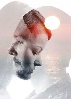 Image result for double exposure two people