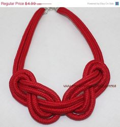 hothotsale Fashion 2013 Hot Items Chunky Statement Handmade Knitted Rope Choker…