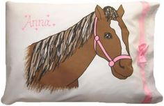 HORSE Personalized Pillowcase  I bought this one for my daughter!  sharpcreations.com