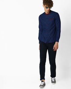 The Indian Garage Co Patterned Slim Shirt