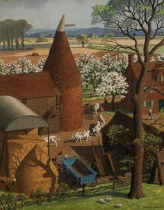 A Kent Farm in Spring, Ronald George Lampitt