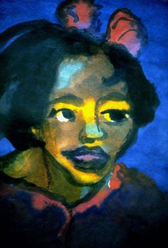 The Icelandic. Emil Nolde (7 August 1867 – 13 April 1956) was a German painter and printmaker. He was one of the first Expressionists, a member of Die Brücke, and is considered to be one of the great oil painting and watercolour painters of the 20th century. He is known for his vigorous brushwork and expressive choice of colors. Golden yellows and deep reds appear frequently in his work, giving a luminous quality to otherwise sombre tones.
