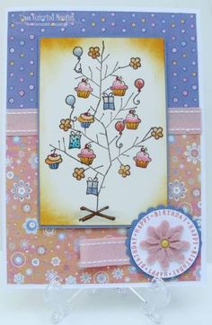 Cupcake Tree To see more ideas and order Stamps by Judith & Heather go to www.stampsbyjudith.com