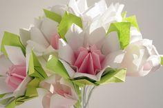 Origami  Bouquet! White handmade paper flowers. Wedding
