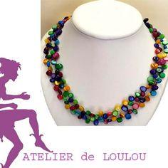 création pièce unique nacre multicolore http://www.atelierdeloulou.fr/