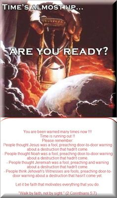 are you ready??? the final destruction of a wicked generation. Peaceful conditions soon on earth.