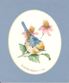 Brewster's Warbler 7 x 6 original watercolor by CShoresInc on Etsy