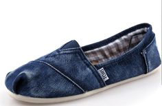 #cheap Toms Blue Stone Washed Twill Mens Classics # for mature m