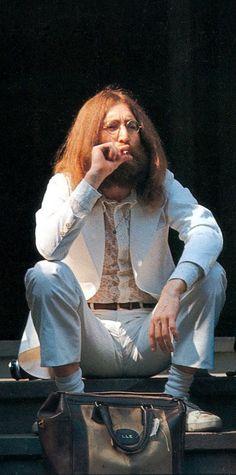 John getting ready to take that infamous walk across Abbey Road…