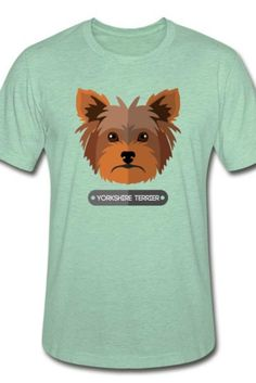 This Yorkshire terrier Unisex Heather Prism T-Shirt is a symbol of cute, funny, cool, unique, and happiness to wear. Modern and handsome, this cat art is truly the perfect gift for any cat lover in your life.