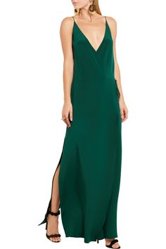 Shop on-sale Juan Carlos Obando Essex silk wrap gown. Browse other discount designer Dresses & more on The Most Fashionable Fashion Outlet, THE OUTNET.COM