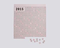 Perforated Calendar 2015