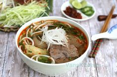 Vietnamese spicy beef noodle soup by van_pham, via Flickr
