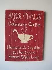Adorable christmas sign for the kitchen
