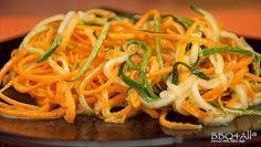 Spaghetti di carote e zucchini