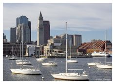 USA, Boston harbour