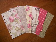 PERSONAL Size DIVIDERS Set -  Paris  #606 - Fits FILOFAX