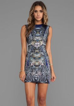 CLOVER CANYON Russian Enamel Neoprene Dress in Multi - Love @Clover Canyon ! Their dresses are perfection! ♥