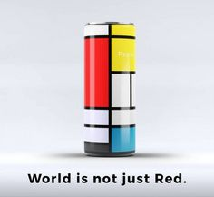 A Minimalist, Mondrian-Inspired Redesign Concept Of A Pepsi Can - DesignTAXI.com