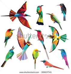 Find Birds Set Colorful Meropidae Low Poly stock images in HD and millions of other royalty-free stock photos, illustrations and vectors in the Shutterstock collection. Stork Bird, Origami, Polygon Art, Bird Drawings, Bird Design, Free Illustrations, Low Poly, Art Forms, Royalty Free Images