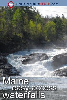 Travel Maine USA Attractions Nature Easy Hikes Trails Outdoors Hiking Adventure Natural Beauty Explore Maine State Parks Waterfalls Natural Wonders Waterfalls New England Hidden Gems Waterfront Places To Visit Desti Vacation Trips, Vacation Spots, Vacation Ideas, Vacations, Travel Maine, Travel Usa, Maine Road Trip, Road Trips, Places To Travel