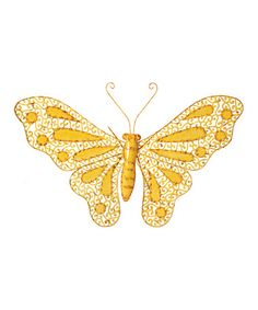 Take a look at this Yellow Butterfly Wall Art by Color Trend: Go for Gold on #zulily today!