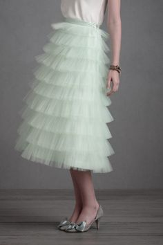mint crinoline skirt
