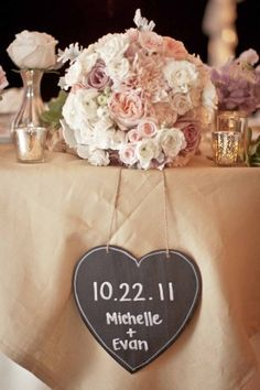 """Love the heart, but with """"The ____ (last name inserted here)"""" and wedding date. Something that can hang In the home after the wedding"""