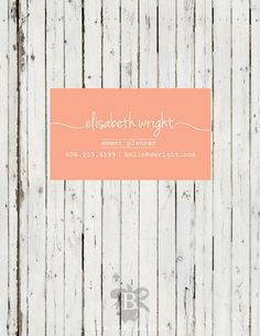 Softly Scripted Business Card  DEPOSIT by beallara on Etsy