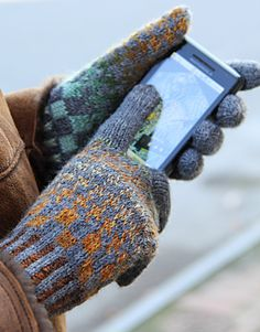 Gloves made with conductive thread, so that you can work a touchscreen while wearing them.