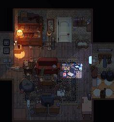 Ideas For Pixel Art Aesthetic Room Pixel Art Gif, How To Pixel Art, Pixel Art Games, Arte 8 Bits, Pixel Art Background, Rpg Map, 8 Bit Art, Pix Art, Pixel Animation