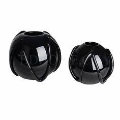 水晶/玻璃摆件 玻璃 黑色缠丝圆形花钵 多尺寸可选