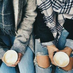 Catching up with friends over a coffee