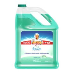 Mr Clean Your Home Pro Multi-Surfaces Liquid with Febreze Freshness Meadows and Rain 128 - Fluid Ounces Bottles (Pack of 4) by Mr. Clean. $44.67. Clean and Freshen your home at once. Mr. Clean Multi-Surfaces Liquid Cleaner with Febreze Freshness Meadows and Rain cuts grease to remove grime and leave the light, fresh scent of Febreze as you go. Use it to clean dirt and eliminate odors on linoleum as well as tile floors, toilets and bathtubs. Outside, this all-pur...