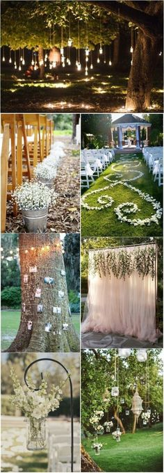 LOVE the aisle design, want to do the candles hanging in the trees