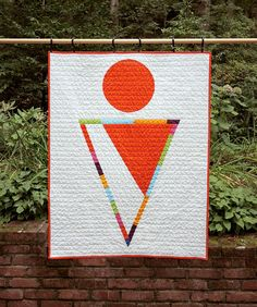 Rainbow Triangle  Geometric Modern Quilt by bperrino on Etsy, $155.00