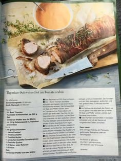 Thymian-Schweinsfilet an Tomatenrahm (Wildeisen) Beef, Food, Drink, Recipes With Rice, Tomatoes, Pepper, Carb Free Recipes, Meat, Beverage