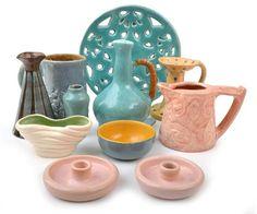 Australian Pottery Sale - Sale LJ5749 30 May 2013 10:00 South Yarra Lot 568 GROUP OF ELEVEN ASSORTED AUSTRALIAN POTTERY ITEMS ARTISTS INCL. ANNIE MITCHELL, DYSON, FLORA LANDELLS, EMMA MCARTHUR, ALAN LOWE  #auction #Australian #Pottery #design #interiors