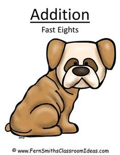 Quick and Easy Center and Printables - Addition Fast Eights - Puppy Themed $ #TPT