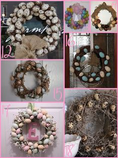 Egg Wreath Round up