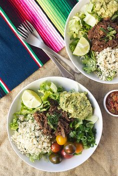 Chipotle Barbacoa Burrito Bowls with Cilantro Lime Cauli-Rice // Review of Against All Grain: Meals Made Simple // Tasty Yummies #glutenfree #grainfree #paleo