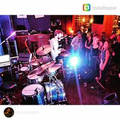 Sweet Spot Clutches rocker @drummercam shared a pic from last night's show thanks bro!  #drumporn #hihatporn #drummerscorner #officialdg2g #drums #coolnessfordrums #modern_drummer #drummag #drumfam #royalnuts #180drums #bateria #baterista #customhihatclutch by sweet_spot_clutches