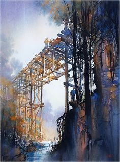 "Thomas W Schaller - Watercolor Artist Really thrilled to learn that my painting ""Time Travelers"" has been accepted for the 77th Annual International Exhibition of the Northwest Watercolor Society. Big thanks to the organization and to juror Keiko Tanabe. The exhibition will run from 24 April - 02 June 2017 at the Gig Harbor History Museum, 4121 Harborview Drive, Gig Harbor, WA 98332."