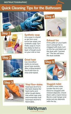 DIY Tutorial: Quick Cleaning Tips for the Bathroom.