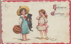 "Title	Postcard ""Halloween Greetings"" Object Name	Postcard Date	1913 ca Year Range from	1910 Year Range to	1919 Issaquah History Museums, WA"