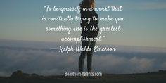 Do you feel like you can be yourself?  #coaching #lifecoach