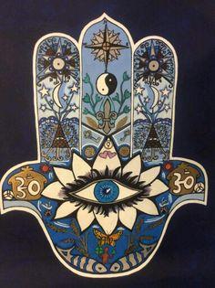 Hamsa,khamsa,hand of fatima x on Canvas . Housewarming gift for Virgo – virgo constellation tattoo Hamsa Hand Tattoo, Hamsa Art, Hamsa Drawing, Hamsa Painting, Hamsa Prayer, Virgo Constellation Tattoo, Cuban Art, Hand Of Fatima, Eye Art